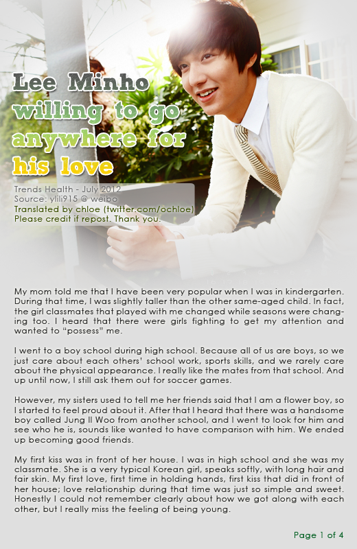 Lee min ho girlfriend in real life 2012 interview lee min ho willing