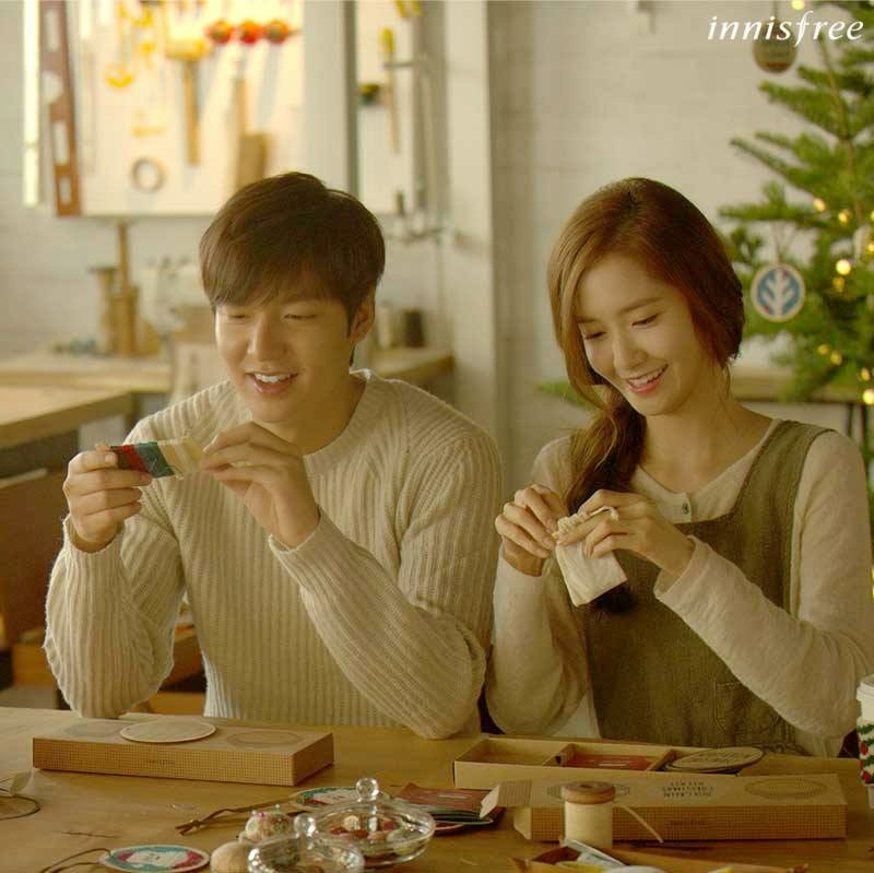 Cuts of snsd s yoona amp lee min ho from the set of their upcoming cf